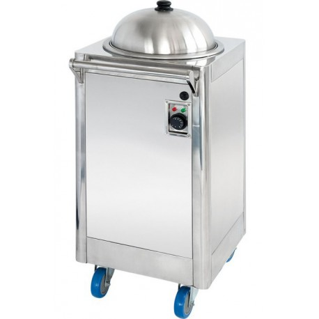 Carro dispensador de platos caliente a temperatura constante 6650