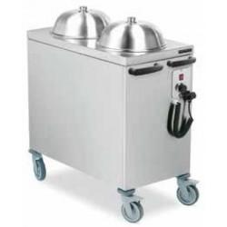 Carro dispensador de platos caliente a temperatura constante 4203